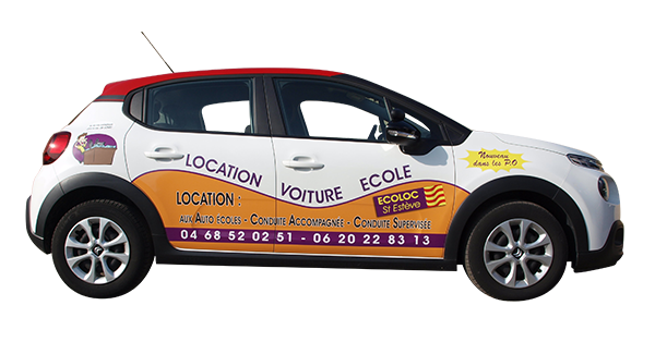 Location de voiture auto-école à double commande